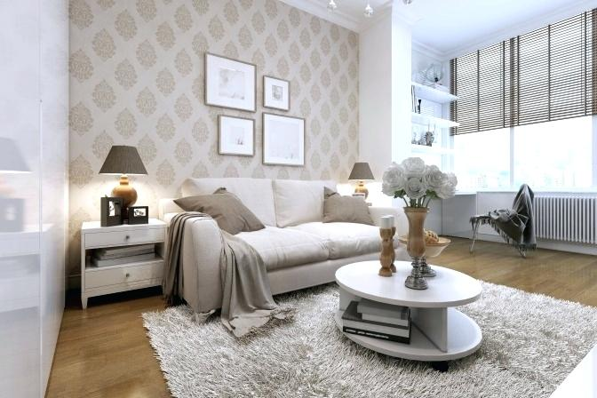 Papier peint design salon décoration